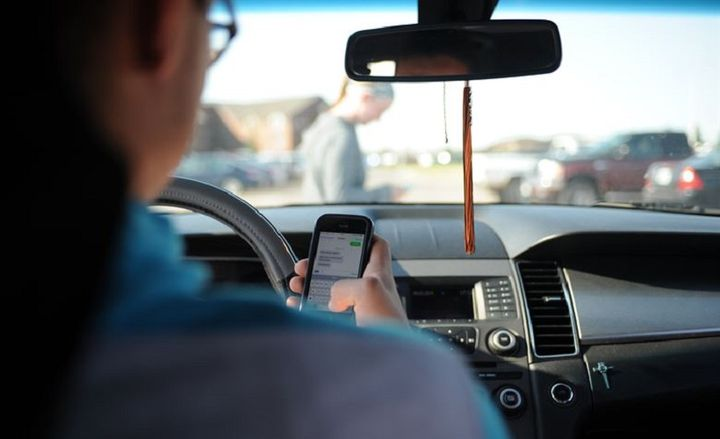 The most risky behavior reported in 2019 were cellphone/device distractions, the consumption of food or beverages while driving, drivers not using seat belts, smoking, and moments of late response. - Photo: U.S. Air Force photo by Airman Sadie Colbert.