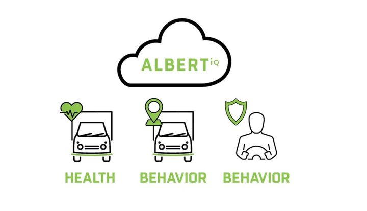 AlbertIQ, the new platform, uses serverless technologies to merge telematics data with Mike Albert's ASE-certified maintenance. - Graphic: Mike Albert Fleet Solutions