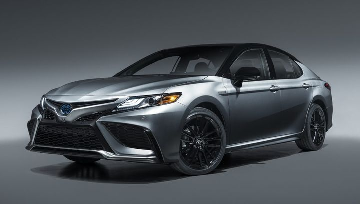 The 2021 Camry hybrid is also now available as the sporty XSE trim. - Photo: Toyota