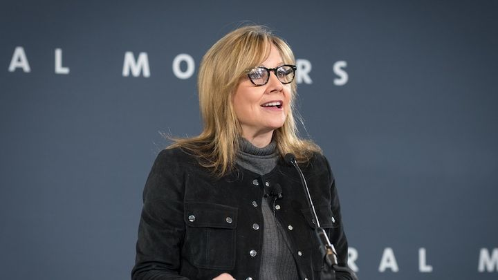 "During her presentation, Mary Barra, chairman and CEO, General Motors, discusses the progress of GM's  ""zero, zero, zero initiative.""