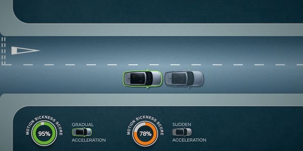 Jaguar Land Rover is developing software that will reduce motion sickness by adapting the...