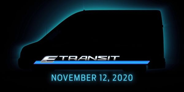 The all-electric Ford Transit chassis options will include cargo van, cutaway and chassis cab,...