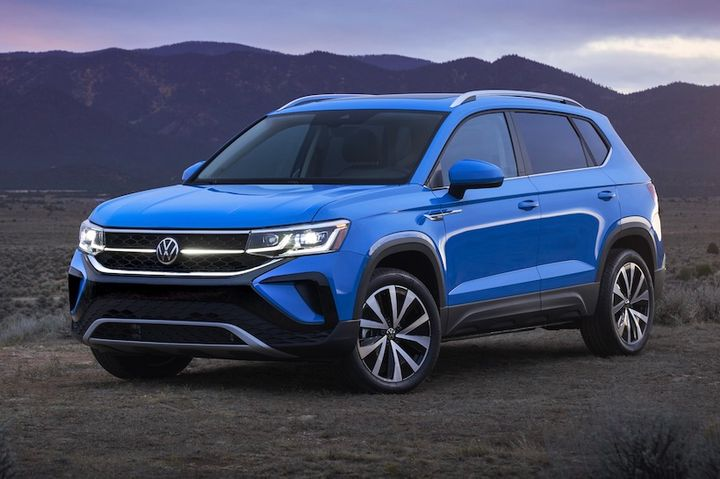 Details for the all-new Volkswagen 2022 Taos, which will slot under the Tiguan in the automaker's lineup of SUVs, have been revealed and includes a suite of the automaker's latest safety and connectivity features. - Photo: Volkswagen