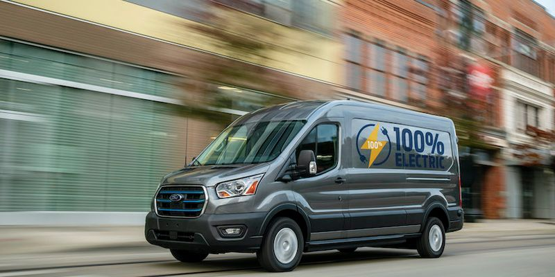 The all-electric 2022 E-Transit will be available with a starting price under $45,000 and...
