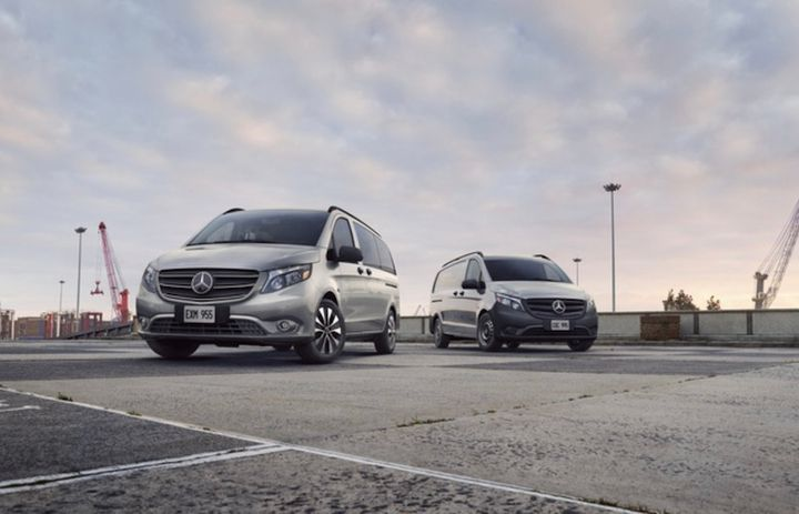 The Mercedes-Benz Metris will receive several updates for the 2021 model-year, including new vehicle monitoring capabilities for fleets, new advanced driver-assistance systems (ADAS), and an improved infotainment setup. - Photo: Mercedes-Benz