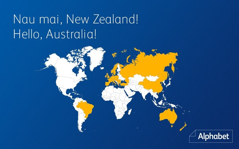 Alphabet Expands Global Fleet Reach to Australia & New Zealand