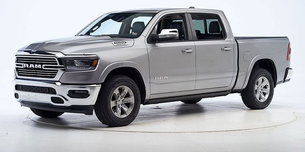 In vehicle-to-vehicle front crash prevention tests, the Ram 1500 avoided collisions at both 12...