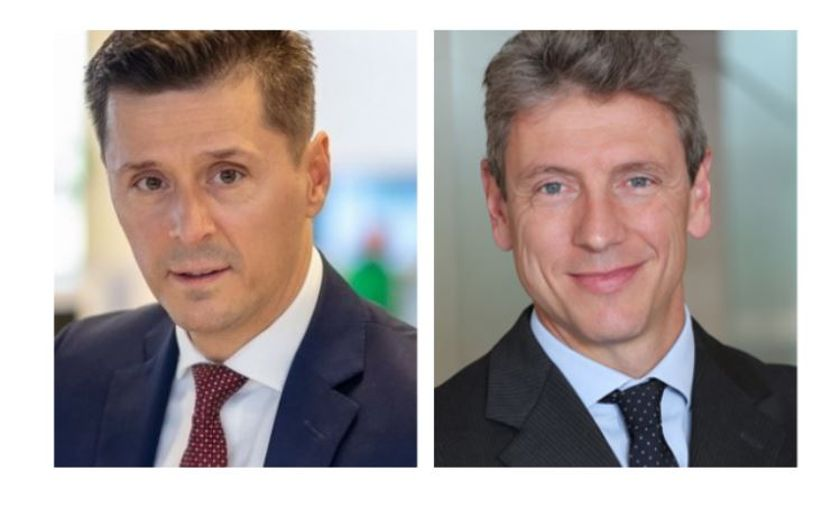 (left to right)Alessandro Pigazzi,retail director of Arval Italy,andDan Boiangiu,director...