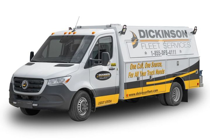Dickinson Fleet Services provides services for medium and heavy-duty trucks and trailers in North America. - Photo: Cox