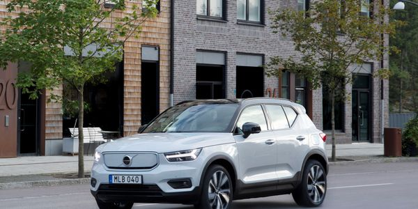 Pictured is the Volvo XC40 Recharge AWD.