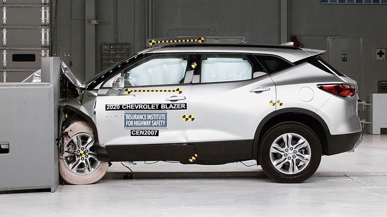 Chevrolet Blazer Scores Well in Crashworthiness Test