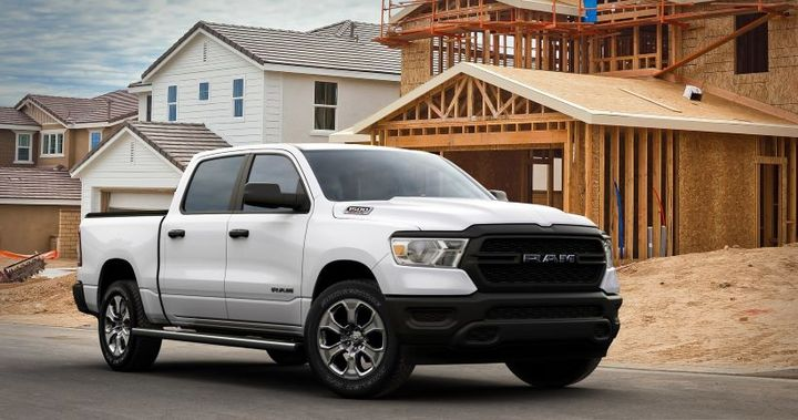 Ram Truck revealed a new, more fuel-efficient 2021 Ram 1500 with the announcement of the Tradesman High Fuel Efficiency (HFE) EcoDiesel model, that delivers a highway rating of 33 mpg. - Photo: Stellantis