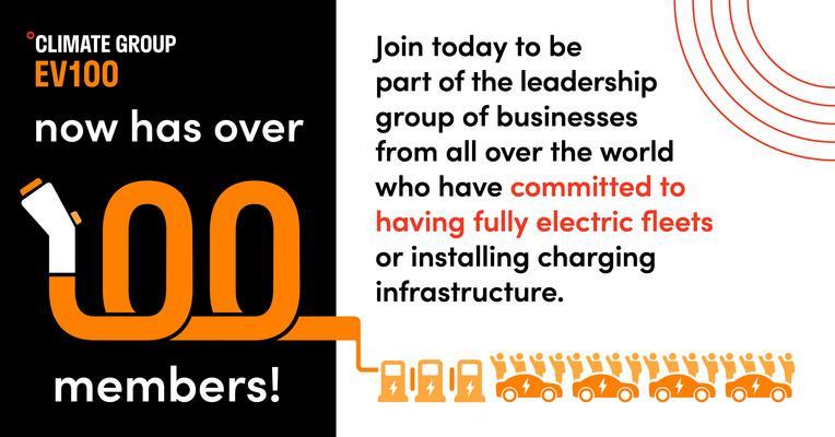 Electric Fleet Initiative EV100 Surpasses 100 Members