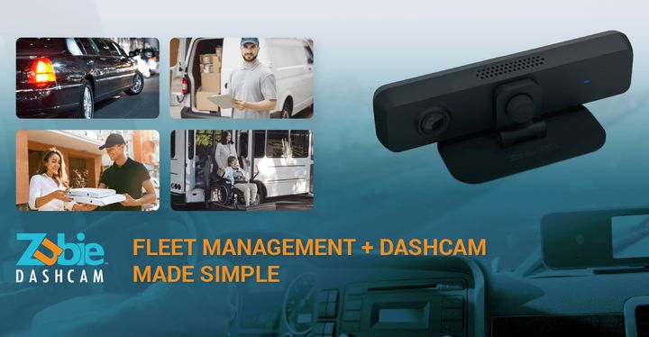The new Zubie Dashcam combines in-cabin and forward-facing video recording capability with GPS driver monitoring technology, delivering consolidation. - Graphic: Zubie