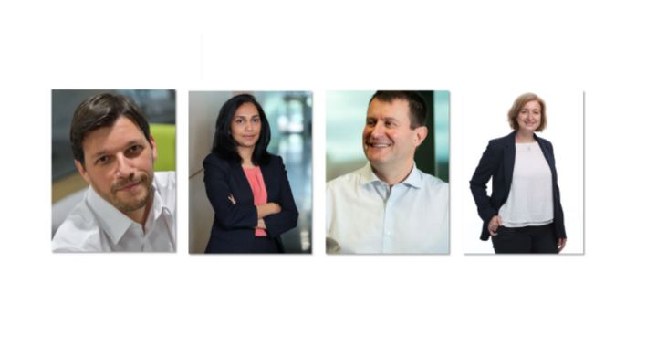 From left to right:Miguel Cabaça;Lakshmi Moorthy;Luc Soriau; and Emilie Wirth. -