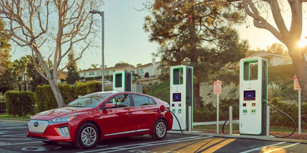 Hyundai said it will provide 250 kilowatt-hours of complimentary charging on Electrify America's...