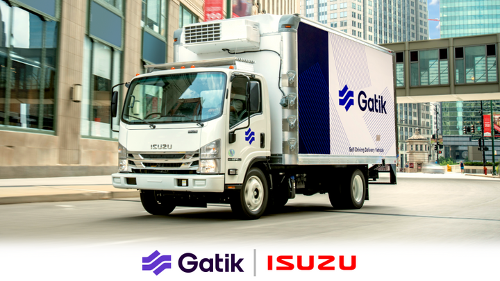 The collaboration will integrate Gatik's autonomous driving technology into several Isuzu medium-duty N-Series trucks to produce SAE Level 4 delivery vehicles with redundant systems.  The first vehicles will be deployed later in 2021 - Isuzu North America