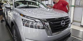 2022 Nissan Pathfinder Rolls Off Assembly Line