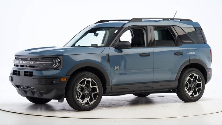 The Bronco Sport underwent six rigorous crashworthiness tests — acing every one of them and earning good scores across the board. - Photo courtesy IIHS.
