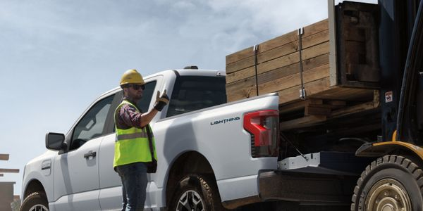 The 2022 All-Electric F-150 Lightning Pro will be offered in a full-size four-door,...