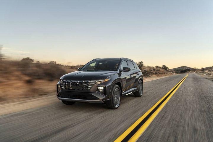 May over May Hyundai Tuscon sales rose 21% from 15,552 to 18,848. YTD 21 vs.20 sales rose 44% from47,725 to 68,896. - Photo: Hyundai