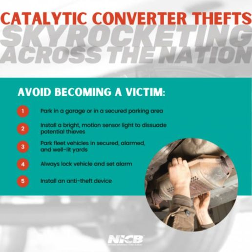 State Farm data from the first half of 2021 finds that California ranks number one in the country for catalytic converter theft — with more than 3 out of 10 claims being filed in the Golden State. - Photo: National Insurance Crime Bureau.