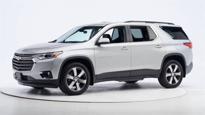 The 2021 Traverse garnered good scores in all six tests, giving it a solid start in capturing the safety award. - Photo: IIHS.
