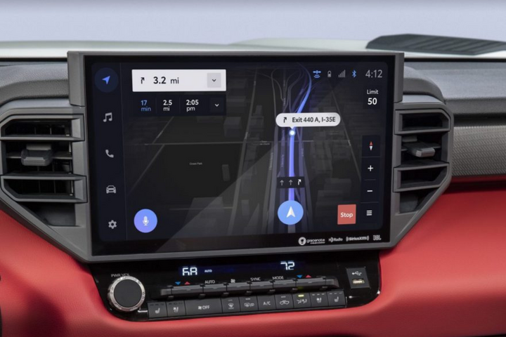 The latest Toyota Audio Multimedia system features a centrally located standard 8-inch touchscreen or an available 14-inch touchscreen - Photo: Toyota