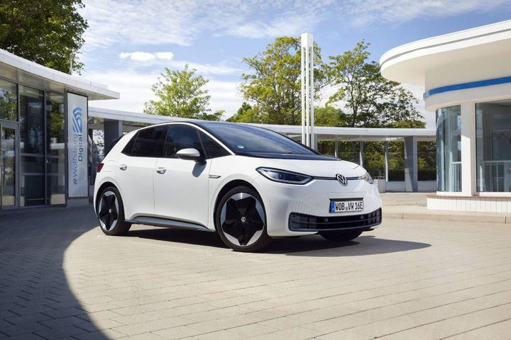 The Volkswagen ID.3 was Europe's top-selling EV during August. - Photo courtesyVolkswagen AG