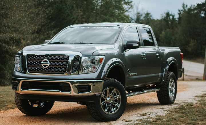 The Nissan Titan Rocky Ridge Altitude Package offers 6.0-inch suspension, 2.0 Nitrogen Charged rear shocks, and compression struts. - Photo by Nissan.
