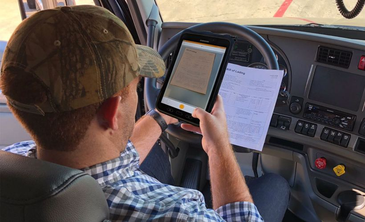 Platform Science is partnering with Vector to streamlinedocument capture for drivers that need to scan documents as part of their workflow.  - Photo courtesy of Platform Science.