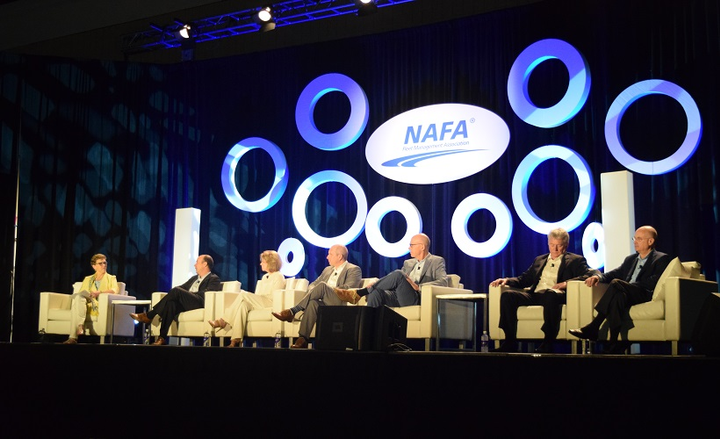 The 2017 NAFA I&E hosted a panel featuring a discussion withfleet management company executives.  - Photo by Andy Lundin