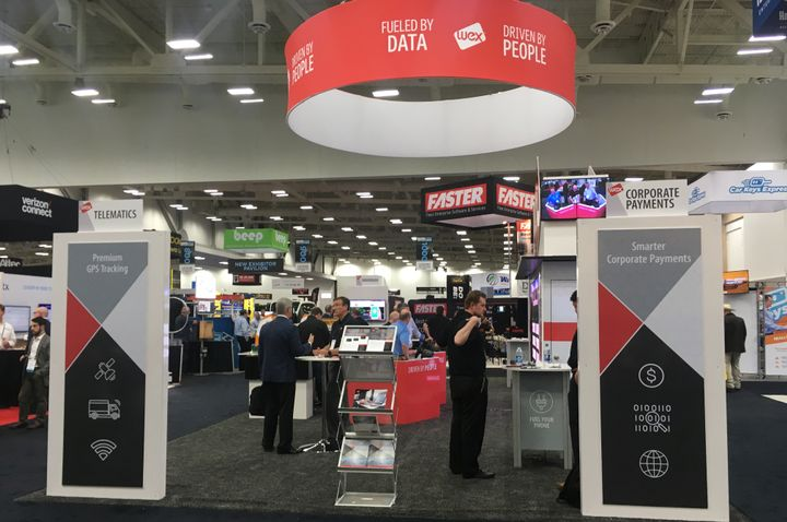 This year's NAFA I&E Expo featured 19 new exhibitors and, reflecting NAFA's goal of offering more in the way of mobility this year, several vendors in the expo hall detailed new mobility technologies, including autonomous vehicle technology. - Photo by Andy Lundin.