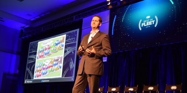 Lukas Neckermann of Neckermann Strategic Advisorsat the 2018 ARI Best in Fleet conference,...
