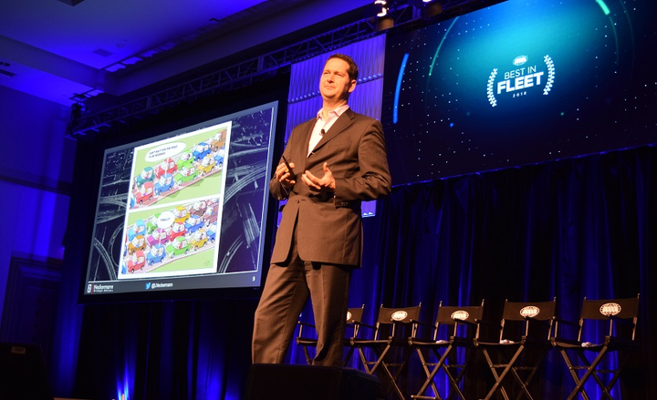 Lukas Neckermann of Neckermann Strategic Advisors at the 2018 ARI Best in Fleet conference, presenting on how the evolution of mobility is changing the way businesses and consumers think about vehicles and transportation. Neckermann will be presenting at this years NAFA I&E.
