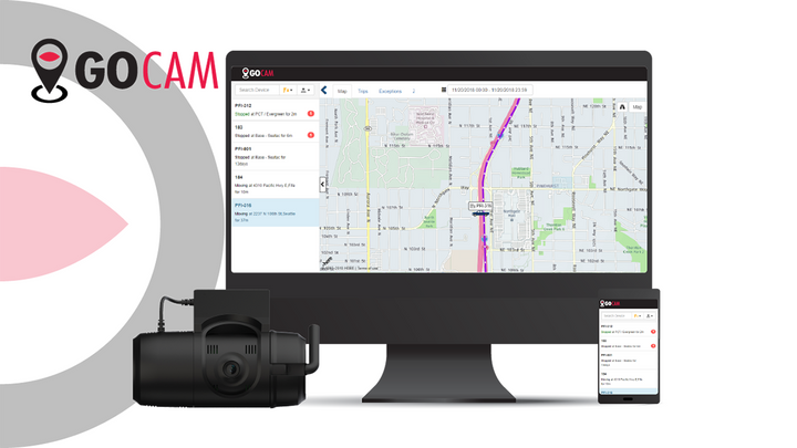 The new GoCam add-on allows Geotab users to transition from location tracking, to ELD reports, to reviewing incident video within their MyGeotab platform. - Image courtesy of SmartWitness.