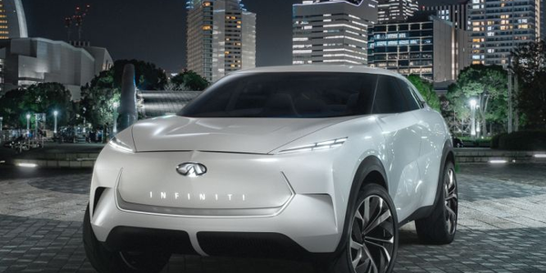 Nissan's battery-electric concept crossover, which the company is calling the QX Inspiration.