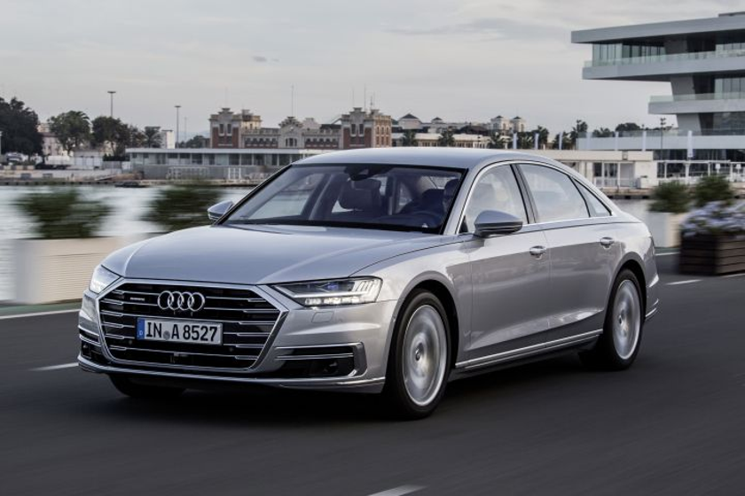 Audi's fourth-generation 2019 A8 luxury sedan will arrive in the fall.