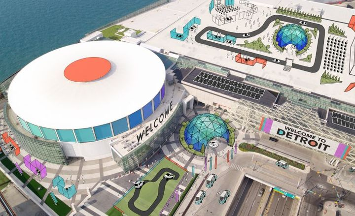 Organizers are rebooting the Detroit auto show for 2020 following the departure of several automakers from the 2019 event.  - Rendering courtesy of NAIAS.