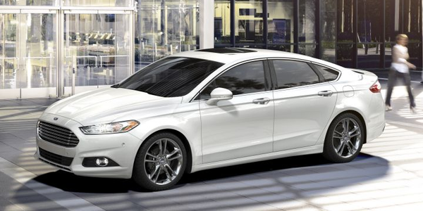Ford is recalling 550,000 Fusion midsize sedans (2016 model shown) and Escape compact SUVs for...