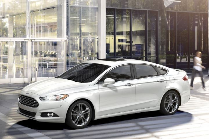 Ford is recalling 550,000 Fusion midsize sedans (2016 model shown) and Escape compact SUVs for possible rollaway.