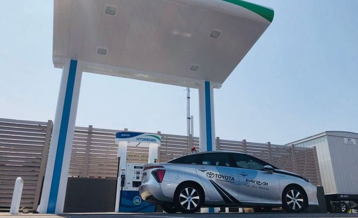 Toyota's Mirai fuel cell sedan will be offered in Hawaii after its distributor built a hydrogen fueling station.