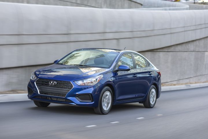 The 2018 Hyundai Accent (pictured) and Kia Rio have been given good safety ratings by IIHS.