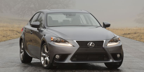 Toyota has recalled four Lexus models, including the 2014 IS350 (shown), for a fuel delivery...
