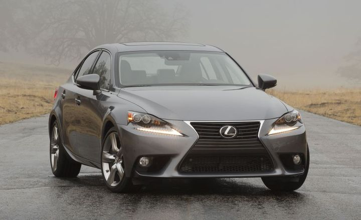 Toyota has recalled four Lexus models, including the 2014 IS350 (shown), for a fuel delivery pipe defect.