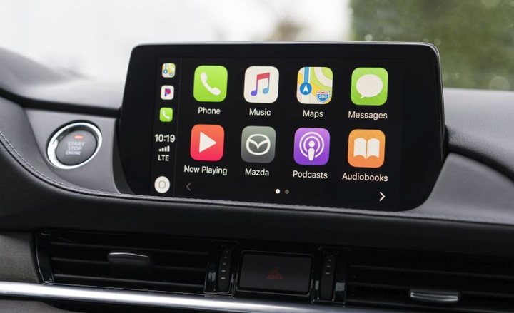Mazda will offer Apply CarPlay as a dealer-added feature.  - Photo courtesy of Mazda.