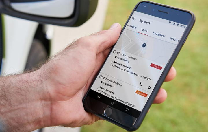 Verizon Connect's Work Mobile app helps manage field workers.