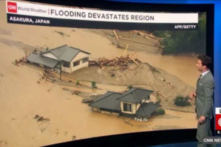 Flooding in Japan has disrupted the manufacturing operations of four automakers.