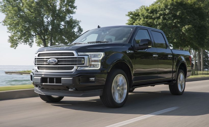 Leading the way for Ford was the lineup of F-Series pickups, with the F-150 winning its eighth consecutive award. - Photo courtesy of Ford.