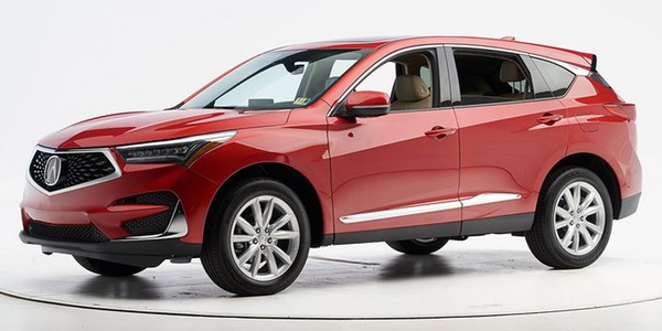 The 2019 Acura RDX has earned the IIHS Top Safety Pick+.